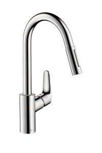 Hansgrohe - Focus Series 2-Spray HighArc Pull-Down Kitchen Faucet