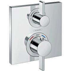 Hansgrohe - Ecostat Square Thermostatic Trim with Volume Control and Diverter
