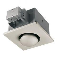 Broan - Ventilation Fans Single Bulb Heater - 250 Watt Heater/Light