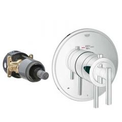Grohe - Atrio Series Trim with Control Module Theromstatic - Dual Function
