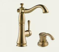 Delta - Cassidy Series Bar/Prep Faucet With Soap Dispenser Single Handle