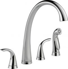 Delta - Pilar Series DIAMOND Seal Technology - Kitchen Faucet Two Handle