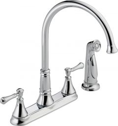 Delta - Cassidy Series Kitchen Faucet With Spray Two Handle