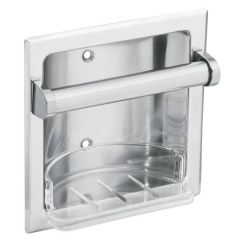 Moen - Donner Series Soap Holder and Bar Recessed Commercial