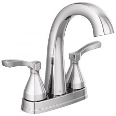 Delta - Stryke Two Handle Centerset Bathroom Faucet with Lever Handles