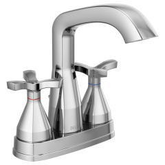 Delta - Stryke Centerset Bathroom Faucet with Lever Handles
