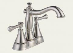 Delta - Cassidy Series Bathroom Faucet Two Handle - Centerset