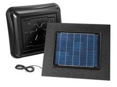 Broan - Attic Ventilators In Black Remote Mount Solar Powered Attic Ventilator