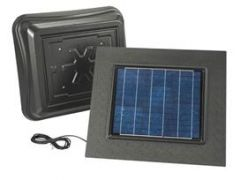 Broan - Attic Ventilators In Weathered Wood Remote Mount Solar Powered Attic Ventilator