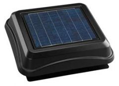 Broan - Attic Ventilators In Black Surface Mount Solar Powered Attic Ventilator