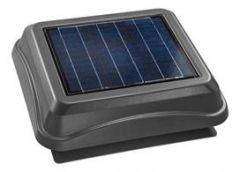 Broan - Attic Ventilators In Weathered Wood Surface Mount Solar Powered Attic Ventilator