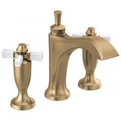 Delta - Dorval Two Handle Widespread Bathroom Faucet with Cross Handles