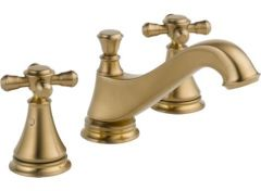 Delta - Cassidy Series Low-Arc Widespread Faucet with Cross Handles