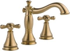 Delta - Cassidy Series Widespread Faucet with Cross Handles