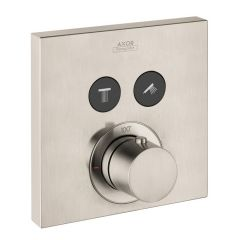 Axor - ShowerSelect Series Square Thermostatic 2-Function Trim