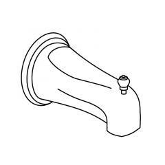 Moen - Tub Spout Monticello - 1/2in IPS Diverter tub spout