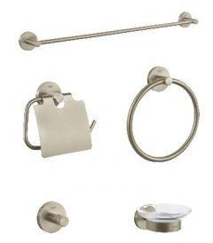 Grohe - Essentials 5-in-1 - brushed nickel Master Bathroom Accessories set
