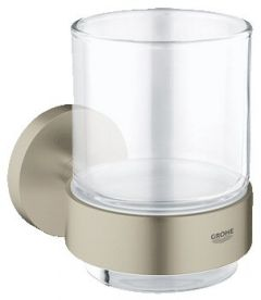 Grohe - Essentials Brushed Nickel Crystal Glass with Holder