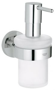 Grohe - Essentials Chrome Soap Dispenser with Holder