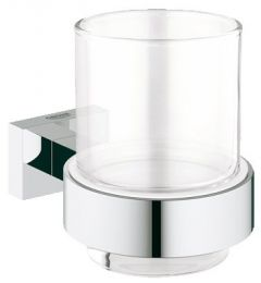 Grohe - Essentials  Cube Crystal Glass with Holder
