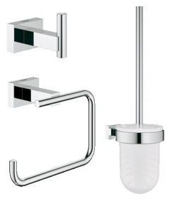 Grohe - Essentials 3-in-1 Cube City Restroom Accessories Set