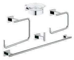 Grohe - Essentials 5-in-1 Cube Master Bathroom Accessories Set