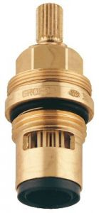 Grohe - Part 1/2in Carbodur 1/4 Turn Right Hot Stem