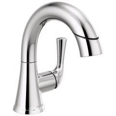 Delta - Kayra Single Handle Pull-Down Bathroom Faucet