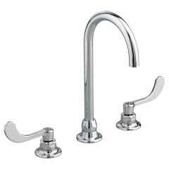 American Standard - Monterrey Series 1.5 gpm - 8 in Widespread - 5 in Gooseneck Spout Bathroom Faucet - LESS Drain/Pop-Up - Laminar Flow