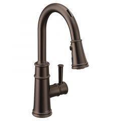 Moen - Belfield Voice-Activated One-Handle High Arc Pulldown Kitchen Faucet