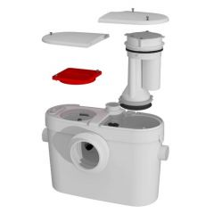 SaniFlo - External Macerators SANIACCESS2 Macerating Pump Only.  To Be Used With Toilet and Sink Only - Sold Separately.
