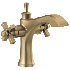Delta - Dorval Two Handle Single Hole Monoblock Bathroom Faucet with Cross Handles