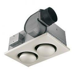 Nutone - Ventilation Fans 70 CFM w/ 250 Watt Heater Double Bulb Fan/Heat Combo
