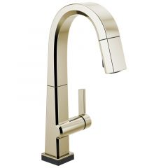 Delta - Pivotal Single Handle Pull Down Bar/Prep Faucet With Touch2O Technology