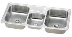 Elkay - Sink Triple Bowl Top Mount Sink Three Faucet Holes