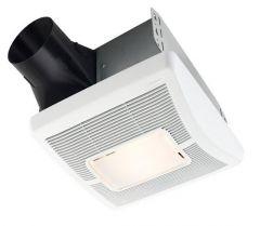 Broan - InVent Series Single-Speed 80 - CFM 1.0 Sones Bathroom Fan/Light