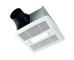Broan - InVent Series Single-Speed 80 CFM - 1.5 Sones LED Fan/Light