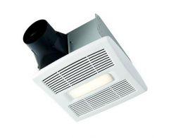 Broan - InVent Series Single-Speed Fan 80 CFM - 0.8 Sones LED Fan/Light