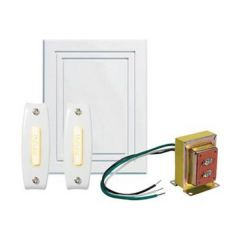 Nutone - Door Chimes Chime Kit 2 Lighted Pushbuttons