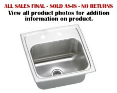 Elkay Sink - Lustertone Series Lustertone Top Mount 2-Hole Single Bowl Hospitality / Bar Sink