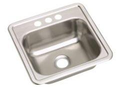 Dayton - Kitchen Sink Single Bowl - Three Holes Top Mount Stainless Sink