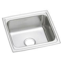 Elkay - Gourmet Lustertone Stainless Steel 19in Single Basin Top Mount Kitchen Sink