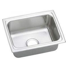 Elkay - Top Mount Single Bowl 18-Gauge 25in x 19-1/2in x 10-1/8in Drop-In Sink without Faucet Ledge