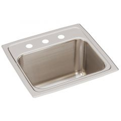 Elkay - Lustertone Classic Stainless Steel 17in x 16in x 10-1/8in - Single Bowl Drop-in Sink