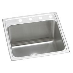 Elkay - Lustertone Classic Stainless Steel 22in x 22in x 12-1/8in - Single Bowl Drop-in Sink