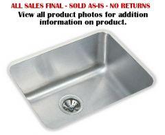 Elkay - Lustertone Series Single Bowl - Stainless Steel Undermount Kitchen / Bar Sink