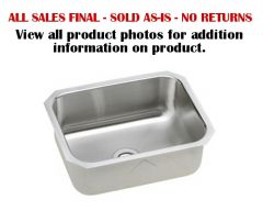 Elkay - Lustertone Series Single Bowl - Stainless Steel Undermount Kitchen / Bar Sink
