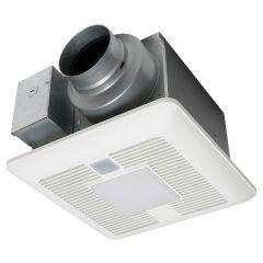 Panasonic - WhisperSense DC Fan with LED Light with Dual Sensor Capability - 50-80-110 CFM
