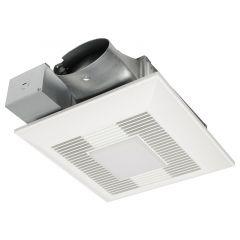 Panasonic - WhisperValue DC Fan/LED Light - Pick-A-Flow Airflow Selector 80 or 100 CFM