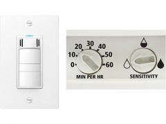Panasonic - Accessories WhisperControl Condensation Sensor Plus - Dew Point Sensing On/Off/Light Wall Control White
